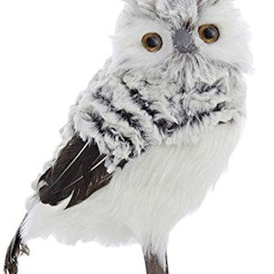 "10"" Gray / White Owl"