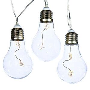 """B/O Led Warm White Transparent Bulb Light 4"""""""