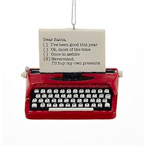 "2.75"" Vintage Typewriter Ornament"