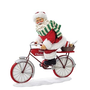 "10"" Santa Riding Bicycle"