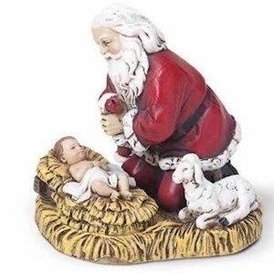 "2.75"" Kneeling Santa Ornament"