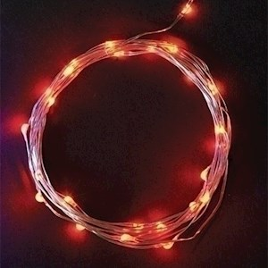10' L25 Led Red Starry Lights