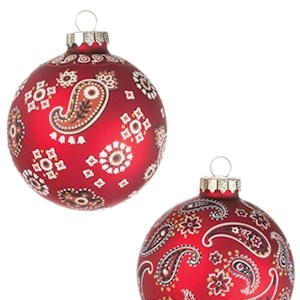 "3"" Paisley Ball Ornament"