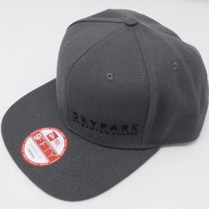 .SkyPark New Era Snapback Hat Charcoal w/ Black