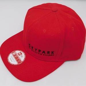 .SkyPark New Era Snapback Hat Red w/ Black