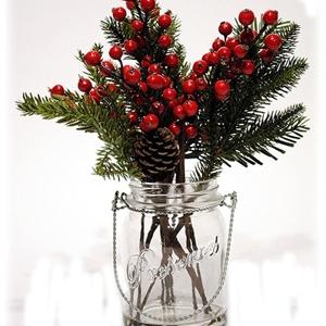 """Berry/Pinecone/Pine (Vase) 12"""""""