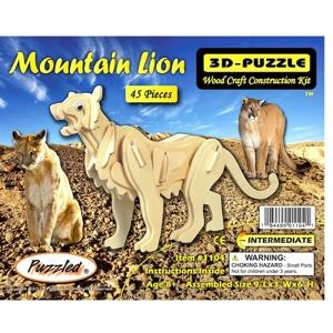 3D Puzzles - Mountain Lion