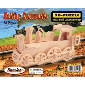 3D Puzzles - Rolling Locomotive
