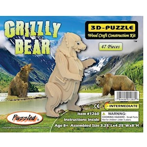 3D Puzzles - Grizzly Bear