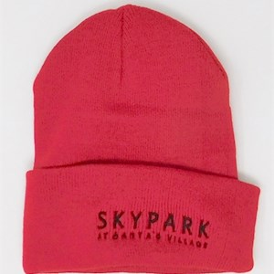 Beanie Red Knit