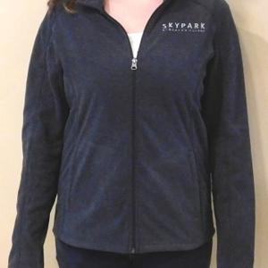 Ladies Fleece Jacket Charcoal XXL