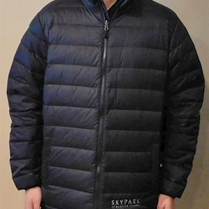 Down Puffer Jacket Black S