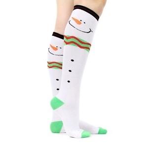 "Knit Snowman Sox 16.5"""