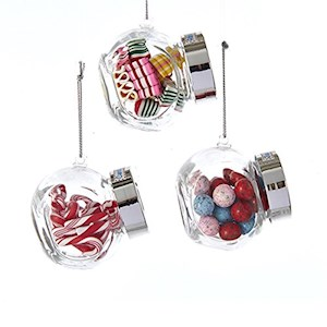 2.5 Candy In Glass Candy Jar Ornament