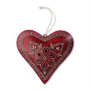 Pierced Metal Heart Ornament