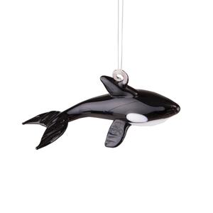 Artglass Orca Whale Ornament