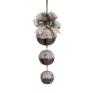 Sand Finish Jingle Bells Ornament