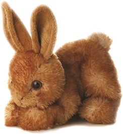Stuffed Bitty Brown Bunny