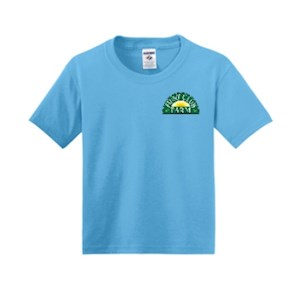 Aqua Blue Youth XS T-Shirt