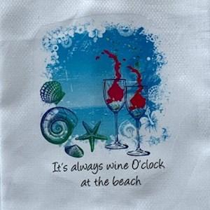 Wine O'Clock Kitchen Towel