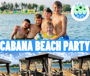 8 Guest Cabana Beach Party