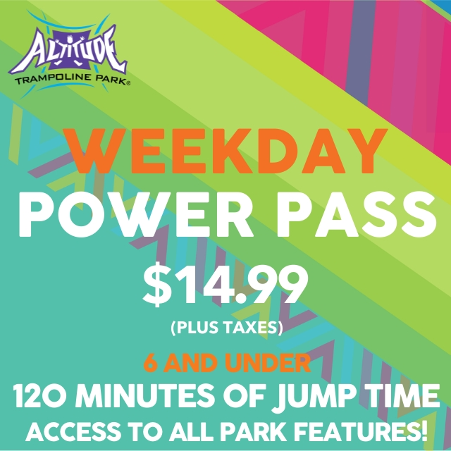 Power Pass 6 & Under 120 Min. Open Jump
