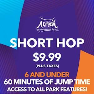 Short Hop 6 & Under 60 Min. Open Jump