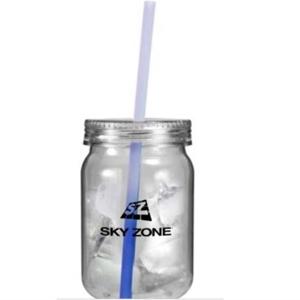 Mason Jar w/mood straw