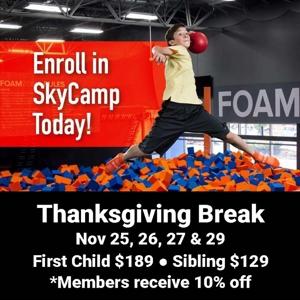 Sky Camp Nov 25,26,27&29