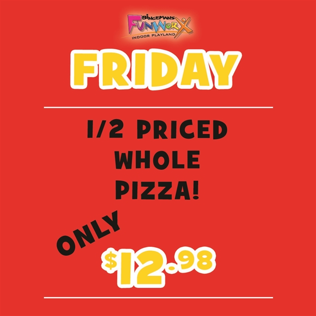 1/2 Whole Pizza Friday Special!