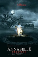 Horror, Mystery, Thriller -   Several years after the tragic death of their little girl, a dollmaker and his wife welcome a nun and several girls from a shuttered orphanage into their home, soon becoming the target of the dollmaker's possessed creation, Annabelle.
