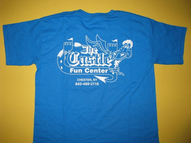 Castle T-Shirts Blue Youth Medium