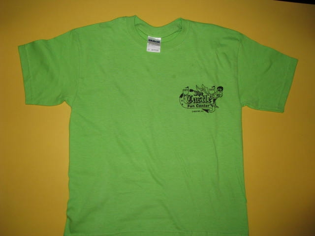 Castle T-Shirts Green Youth Large