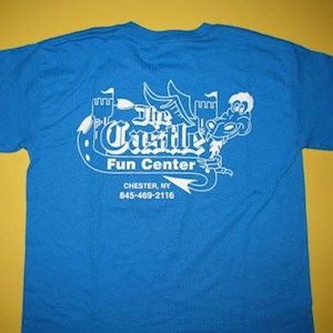 Castle T-Shirts Blue Youth Small