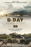 "June 6, 1944: The largest Allied operation of World War II began in Normandy, France. Narrated by Tom Brokaw, ""D-Day 3D: Normandy 1944"" in stunning 3D provides a new perspective of this monumental event that changed the world. This film pays tribute to those who gave their lives for our freedom… A duty of memory, a duty of gratitude."