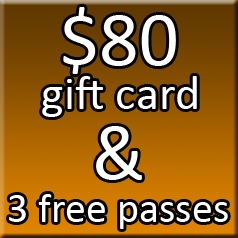 $80 Gift Card & 3 Free Passes