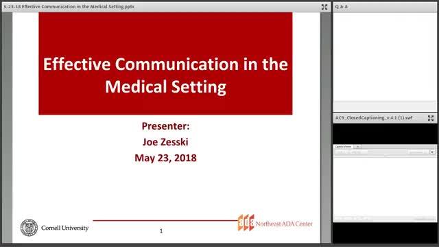 Screenshot of Effective Communication