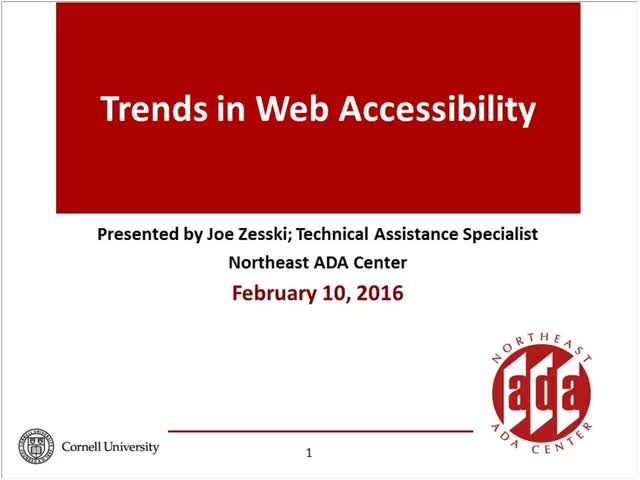 Screenshot of Trends in Web Accessibility