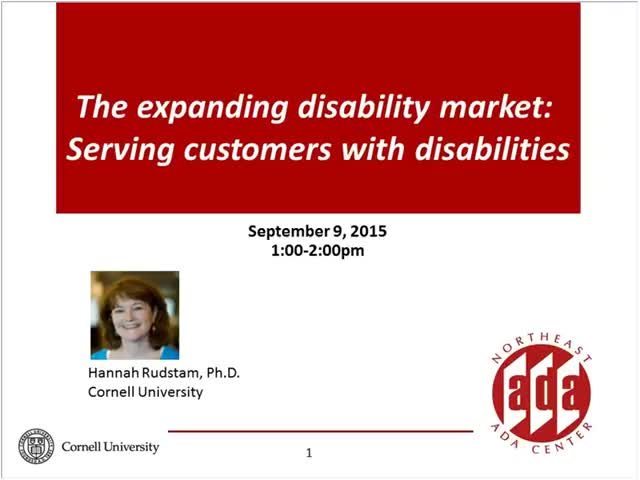 Screenshot of The expanding disability market:  Serving customers with disabilities