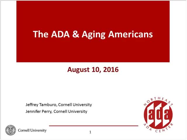 Screenshot of The ADA & Aging Americans