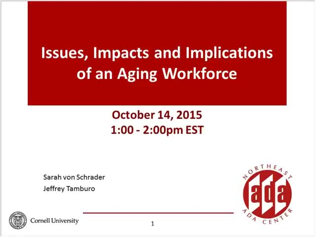 Screenshot of Issues, Impacts and Implications of an Aging Workforce