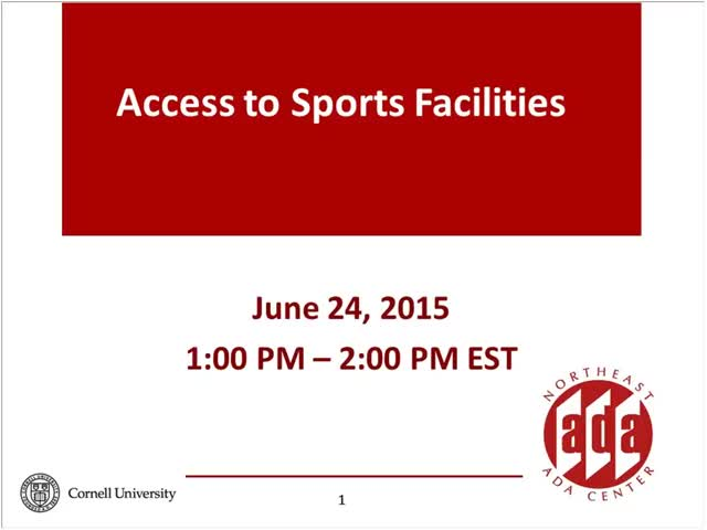 Screenshot of Access to Sports Facilities