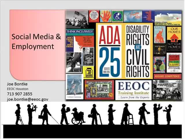 Screenshot of The state of Employment for People with Disabilities: Opportunities and Challenges with Social Media and Employment