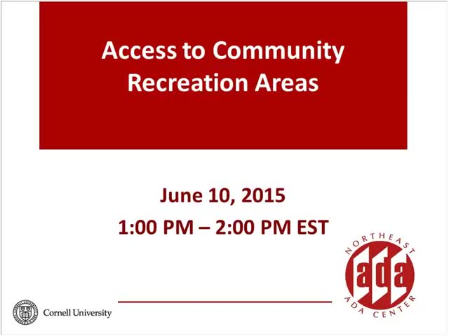 Screenshot of Access to Community Recreation Areas