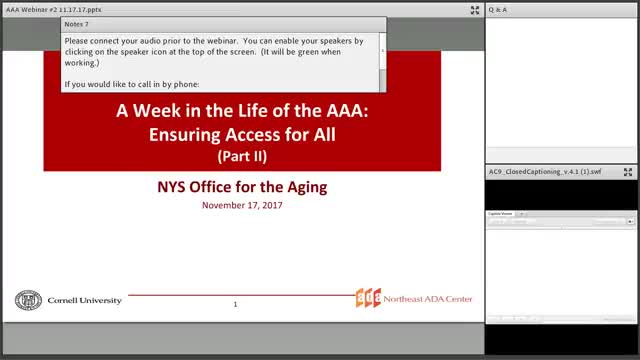 Screenshot of A Week in the Life of AAA: Ensuring Access for All Part 2