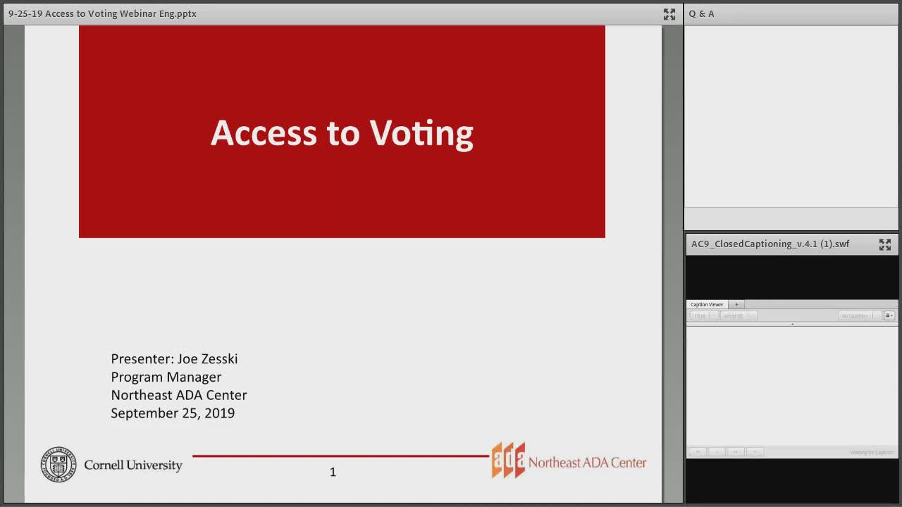 Screenshot of Access to Voting