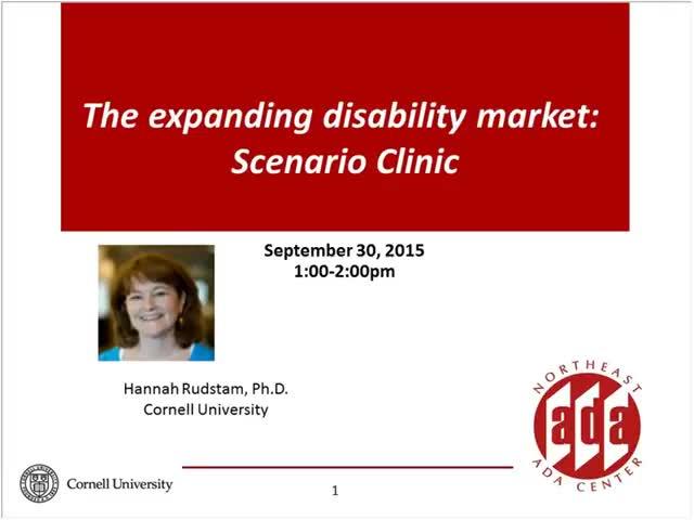 Screenshot of The expanding disability market:  Scenario Clinic