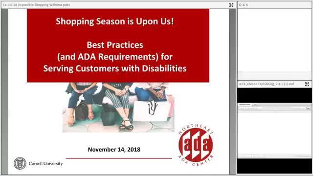 Screenshot of ADA Shopping Season