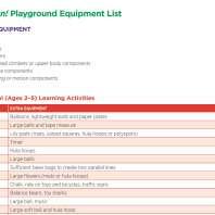 Play On Equipment List Screenshot