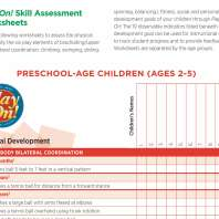 Play On Skills Assessment Worksheet Screenshot